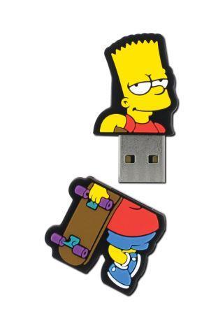 INTEGRAL The Simpsons, Bart 8GB USB 2.0 flashdisk, pogumovaný silikon