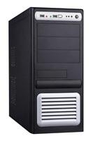 EUROCASE skříň ML5435 black/silver P4 (2x USB, 2x AU), bez zdroje