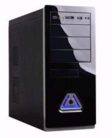 EUROCASE skříň ML5485 black/grey, 2xUSB, 2xHD audio, bez zdroje