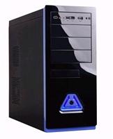 EUROCASE skříň ML5485 black/blue, 2xUSB, 2xHD audio, eSATA, bez zdroje