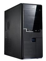 EUROCASE skříň ML X315 black, 2x USB, 2x audio, bez zdroje