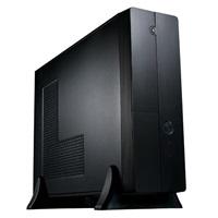 EUROCASE skříň MC8107 micro/desktop black (2xUSB, HD audio), bez zdroje