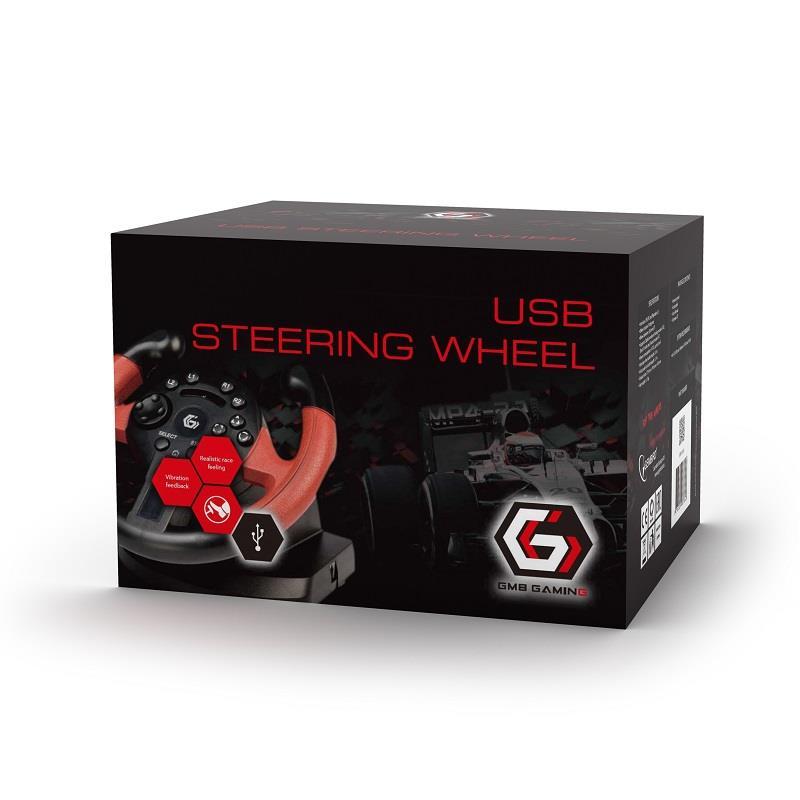 Gembird USB volant s vibracemi (PC/PS3)