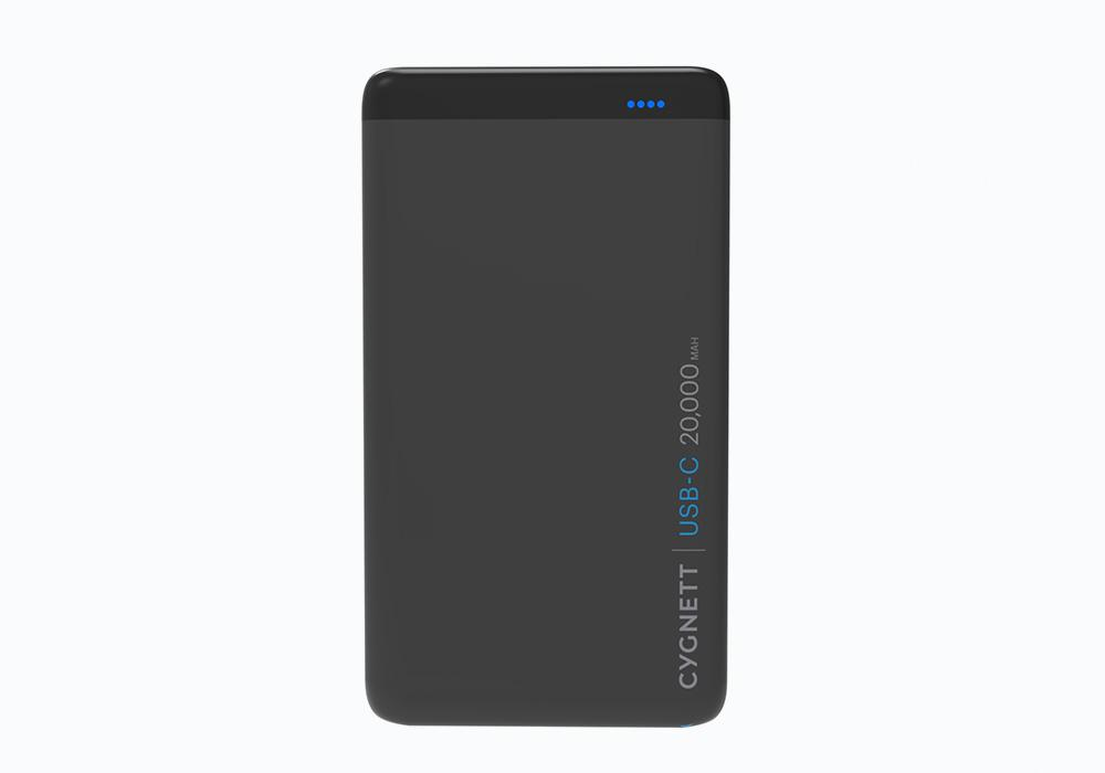 CYGNETT 20,000mAh USB-C,PD-48W Power Bank in Black