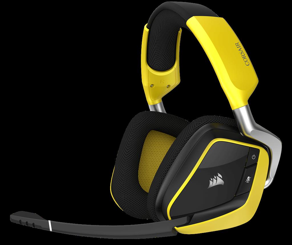 Corsair Gaming Void Pro RGB Wireless Dolby 7.1 Gaming Headset Black/Yellow (EU)