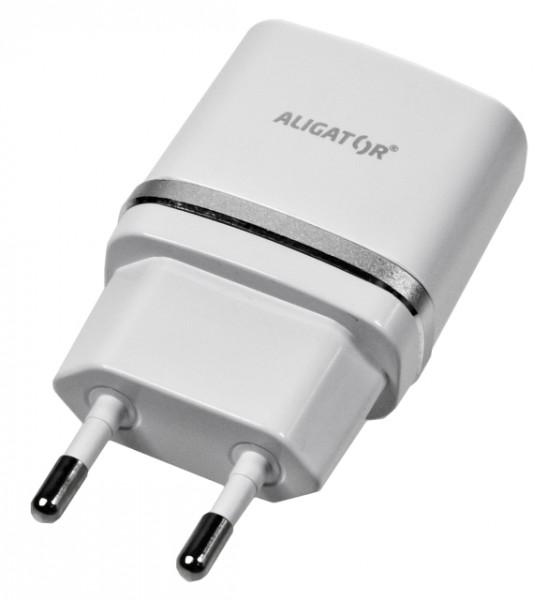 Aligator nabíječka USB výstupem 5V 1A bílá