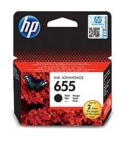 HP 655 Black Ink Cart, 14 ml, CZ109AE