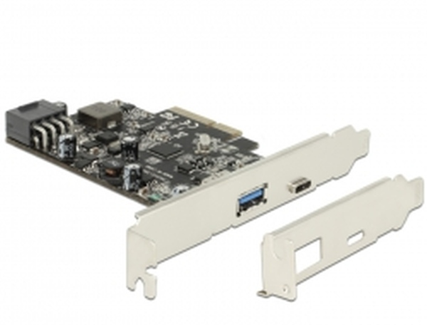 Delock PCI Express Card > 1x USB 3.1+USB Type-C+POWER DELIVERY (93W)