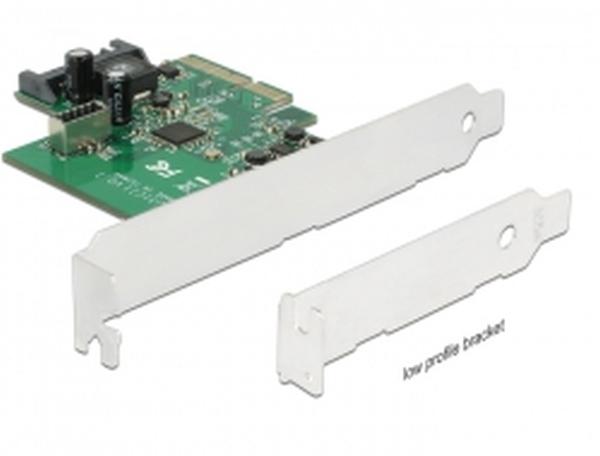Delock PCI Express Karta > 1 x interní USB 3.1 Gen 2 key A 20 pin samice