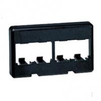 Panduit rámeček modulární 4portový černý