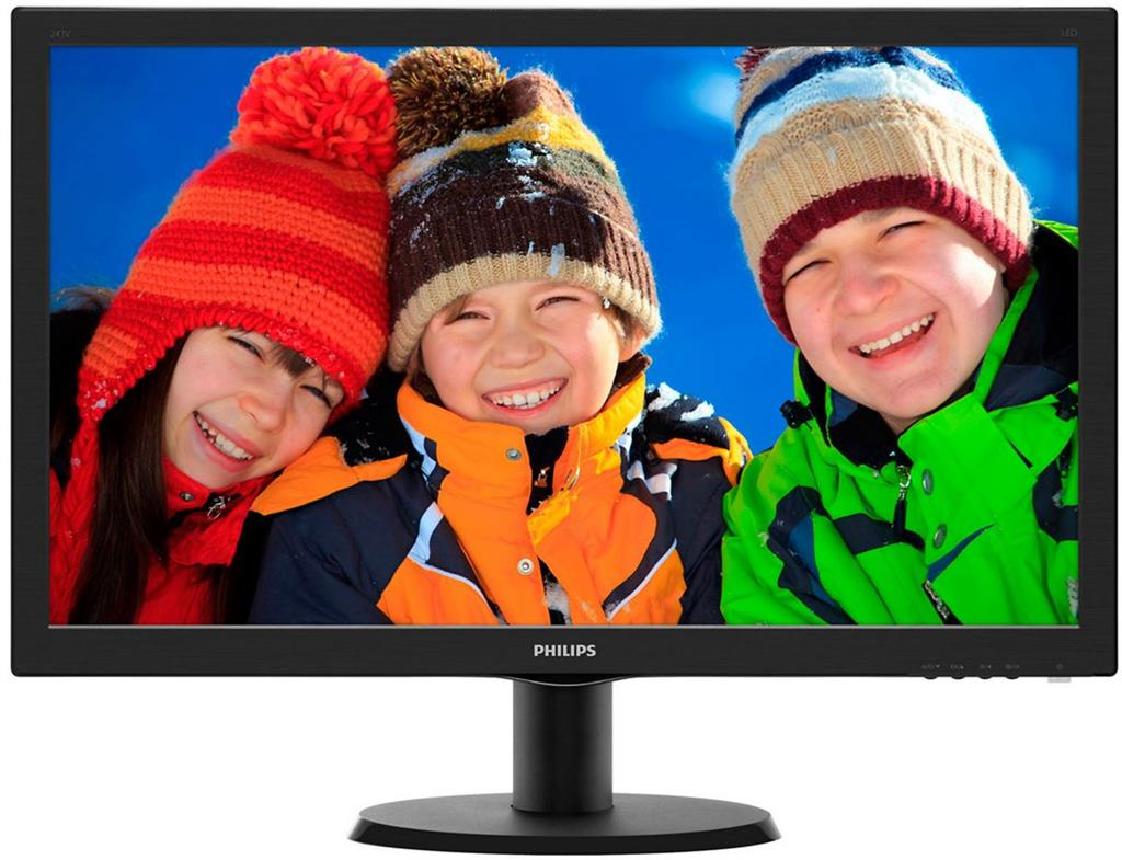 Philips LCD 243V5LSB/00 23,6'' LED, 5ms, DC10mil, VGA, DVI, 1920x1080, č