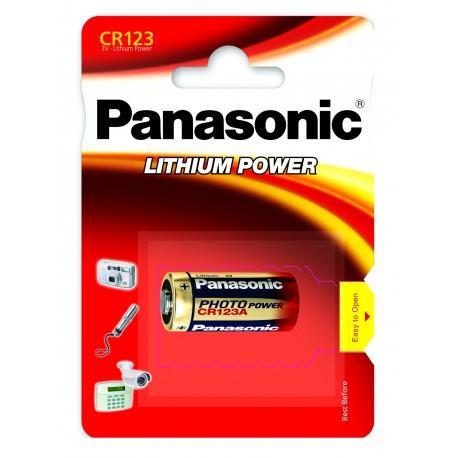 Panasonic Lithium Power baterie do fotoaparátu CR123A, 1 ks, Blister