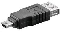 PREMIUMCORD Redukce USB 2.0 A - Mini B 5pin (F/M)