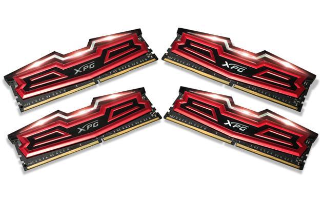 DIMM DDR4 64GB 2400MHz CL16 (KIT 4x16GB) ADATA XPG Dazzle, Red/Black