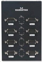 Manhattan konvertor USB/serial RS232 DB9M, 8-portový