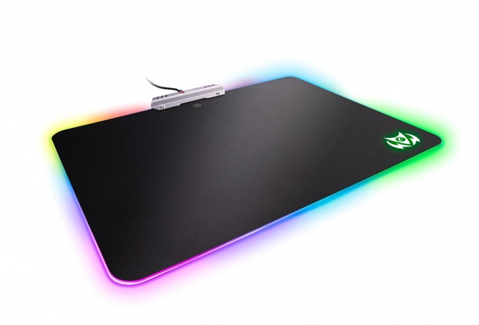 C-TECH Herní podložka pod myš ARION (GMP-07U), pro gaming, 7 barev podsvícení, USB