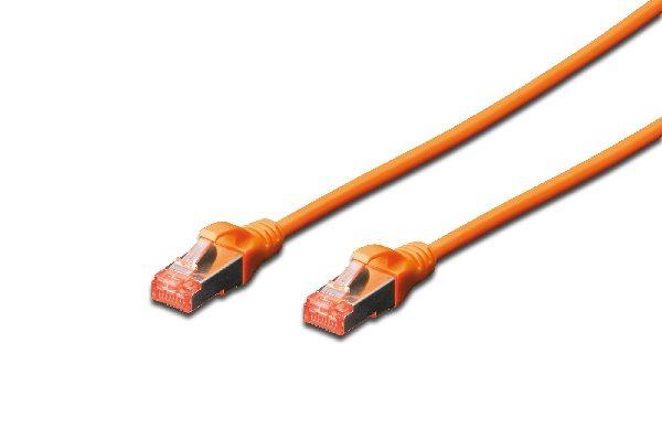Digitus CAT 6 S-FTP patch cable, Cu, LSZH AWG 27/7, length 1 m, color orange