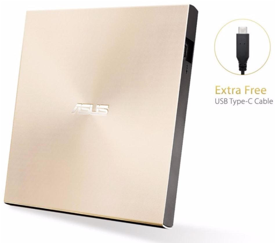 ASUS SDRW-08U9M-U GOLD (USB-C/A) + Bitdefender IS 2017/2018 1PC