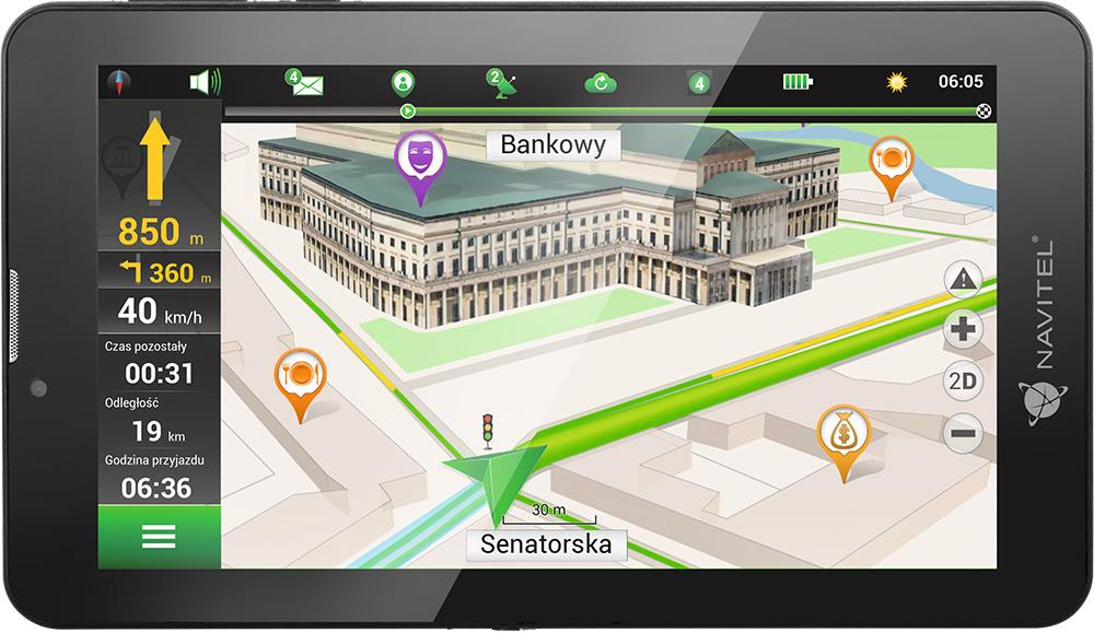 NAVITEL T700 3G 7'' tablet + Lifetime mapy + příslušenství do auta