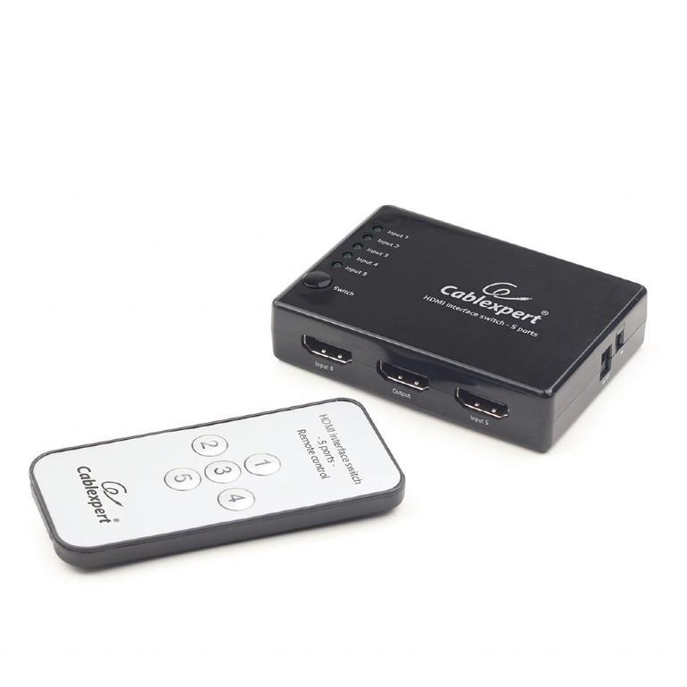 Gembird HDMI přepínač rozhraní, 5 porty