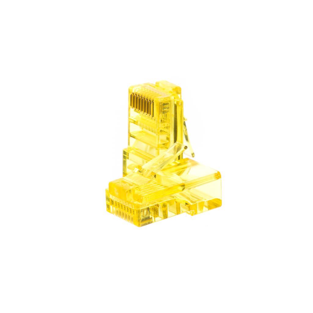 Netrack konektor RJ45 8p8c, UTP drát, cat. 5e (100 ks), žlutý