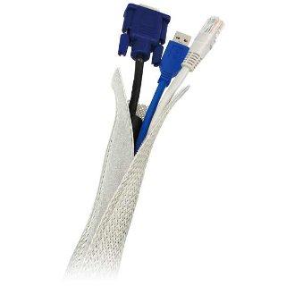 LOGILINK - Elastický organizér kabelů, šedý