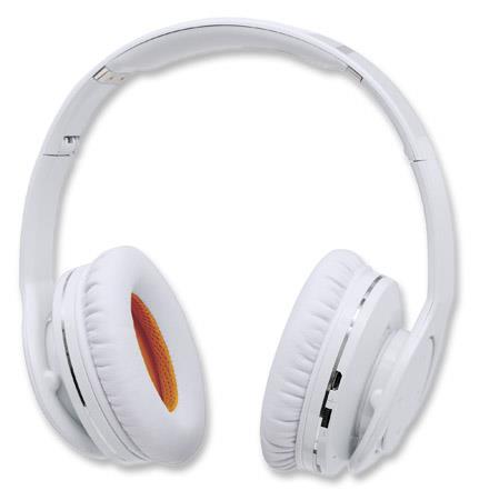 MANHATTAN Sluchátka Fathom, Bluetooth 4.0, bílá