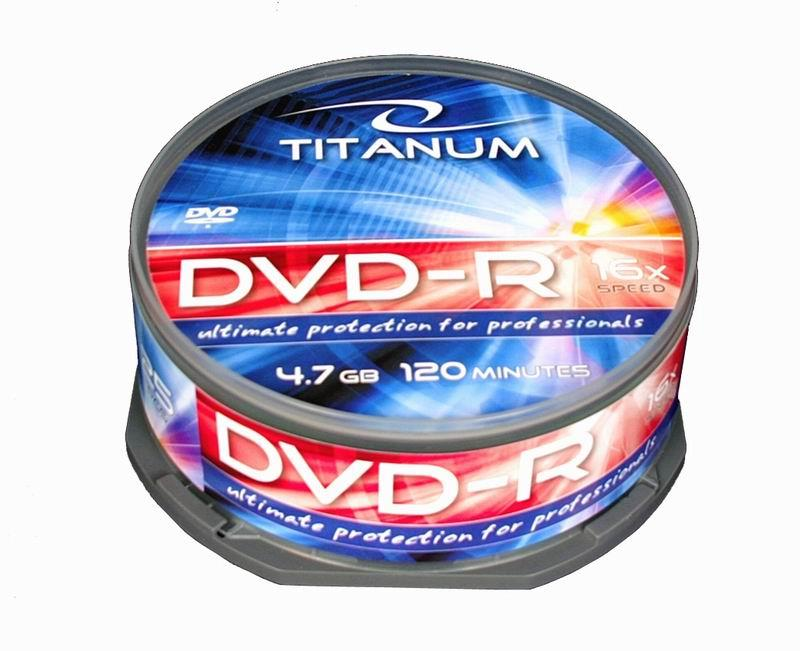 Titanum DVD-R [ cakebox 25 | 4.7GB | 16x ]