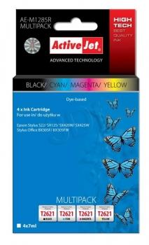 Ink ActiveJet AE-M1285R | black, Cyan, Magenta, Yellow | 4x7 ml | Epson T1285, T