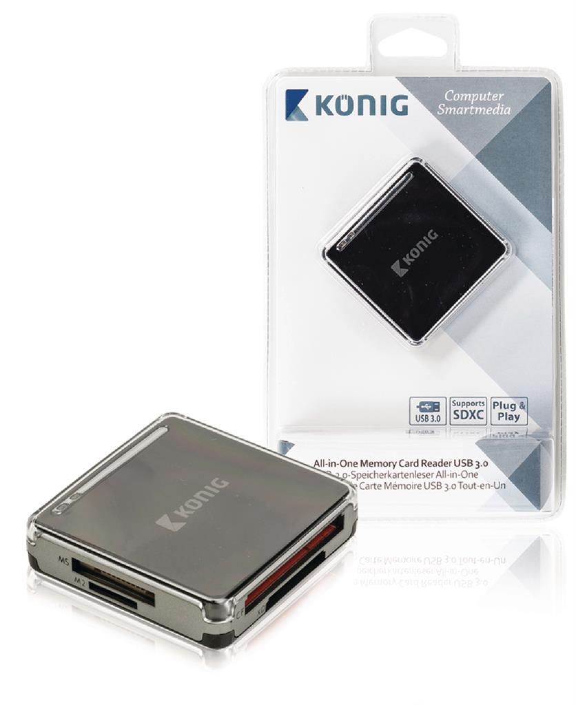 "Konig Čtečka paměťových karet ""vše v jednom"", USB 3.0"
