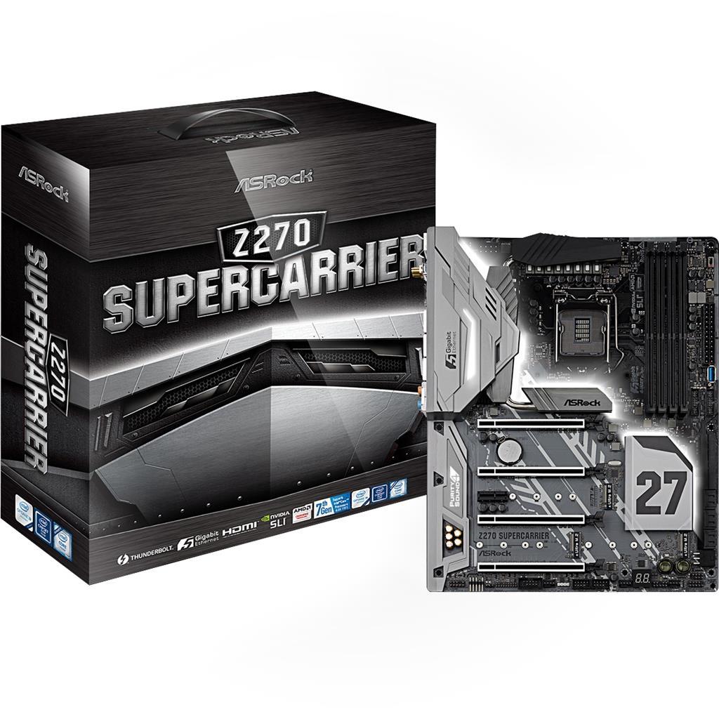 ASRock Z270 SUPERCARRIER, Z270, DDR4 3733+, 4 PCIe 3.0 x16, 1 PCIe 3.0 x1