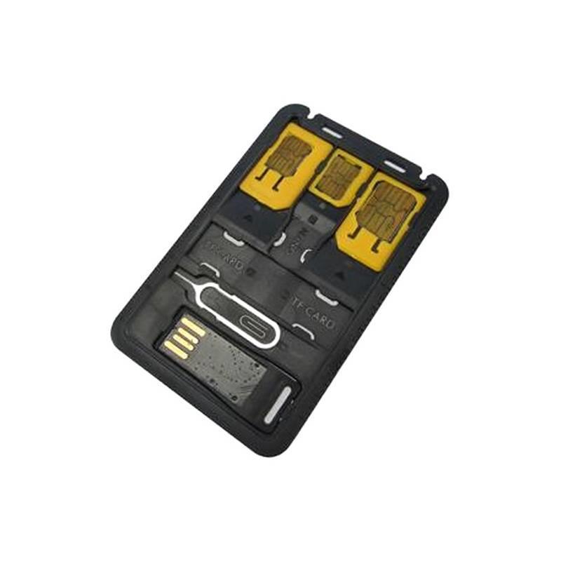 Techly Set, adaptér karty SIM, nano-SIM Micro-SIM + čtečka MicroSD + klíček