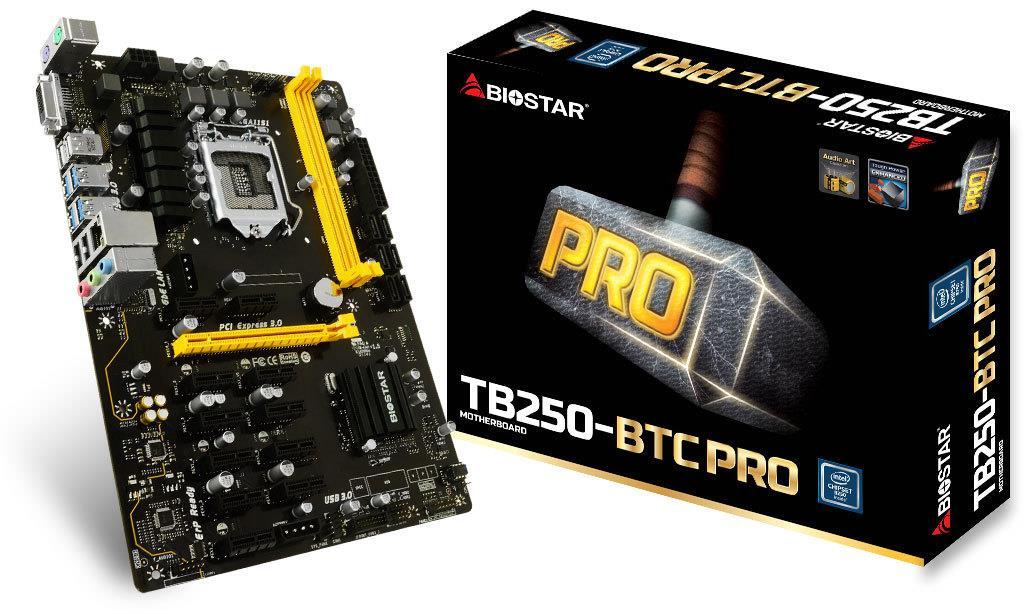 Biostar TB250-BTC PRO, Ver:6.0 Intel B250, Socket 1151, DDR4-2400/ 2133