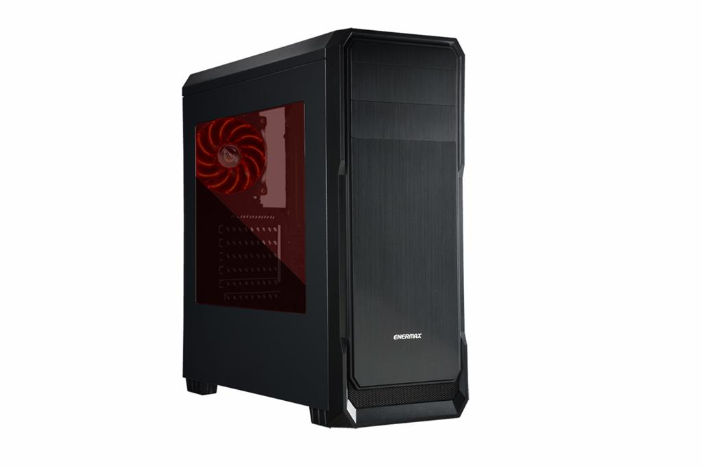 Enermax case Ostrog lite Black, without PSU