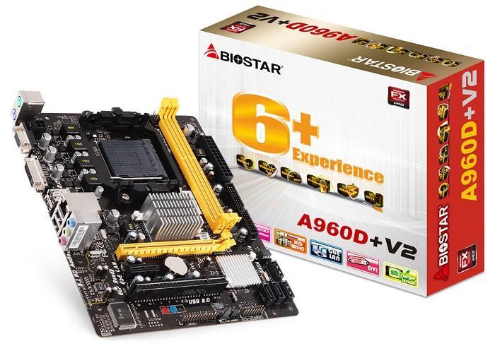 Biostar A960D+ V2, SB710, SATA2, DDR3, USB2.0, uATX