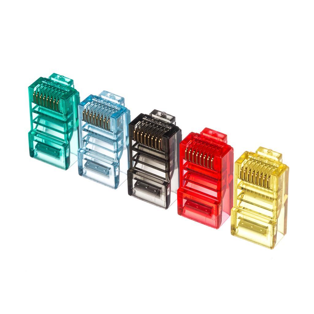 Netrack konektor RJ45 8p8c, UTP lanko, cat. 5e (100 ks), barva mix
