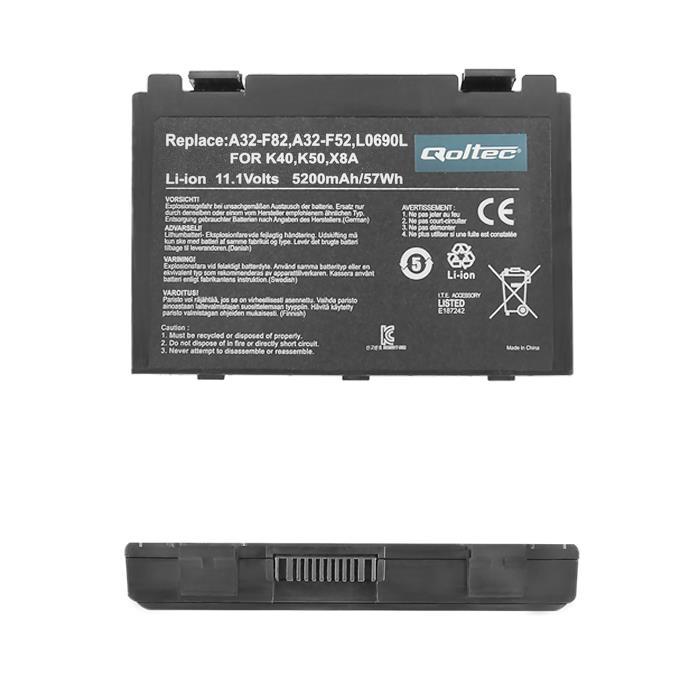 Qoltec Long Life baterie pro notebooky ASUS F82, F83S 11.1V | 5200mAh