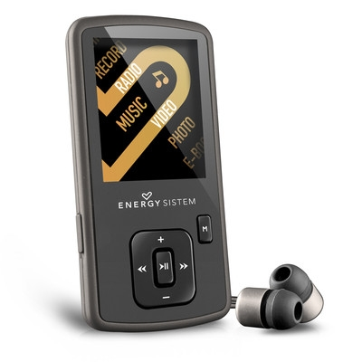 ENERGY MP4 Slim3 Dark Iron (8GB, MicroSD), FM, sluchátka, pouzdro