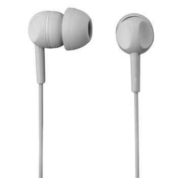 Sluchátka s mikrofonem Thomson EAR3203, silikonové špunty, šedá