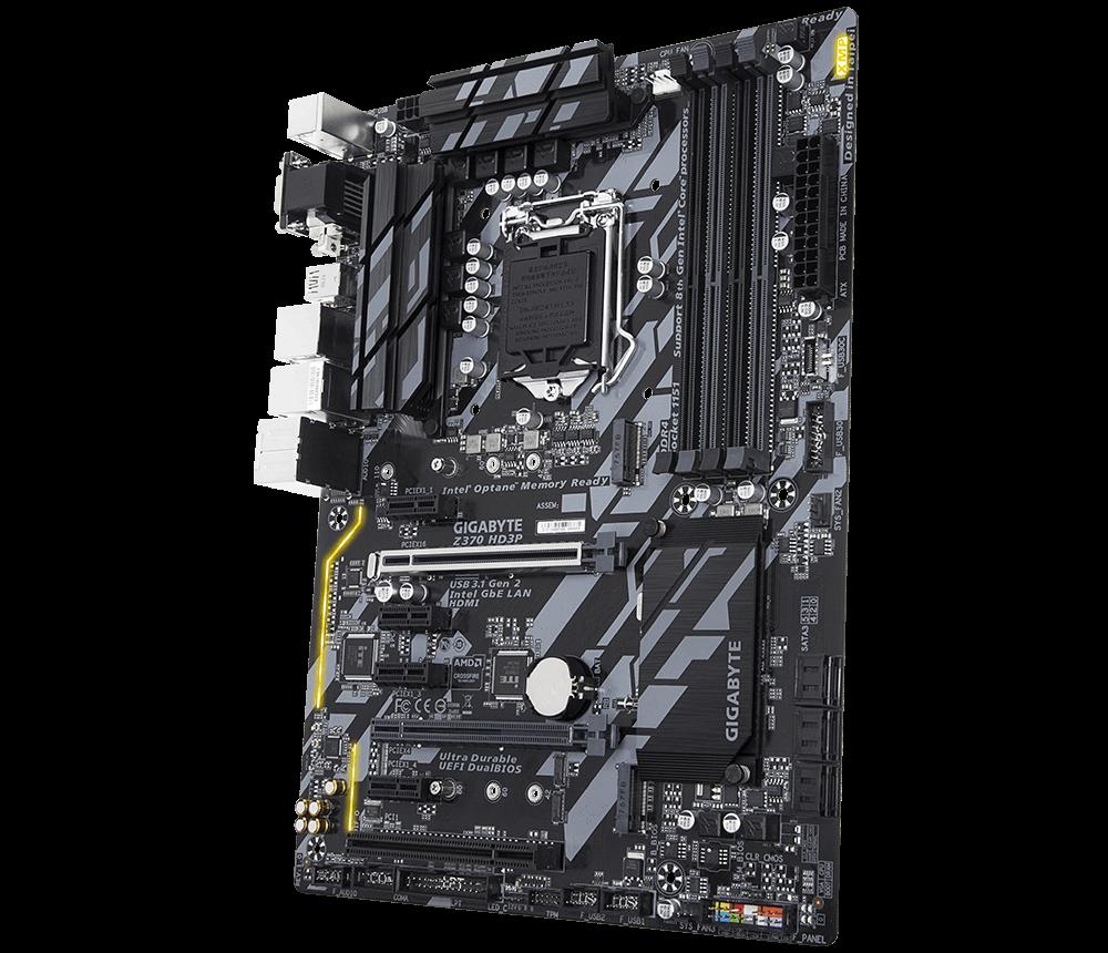 GIGABYTE MB Sc LGA1151 Z370 HD3P, Intel Z370, 4xDDR4, VGA