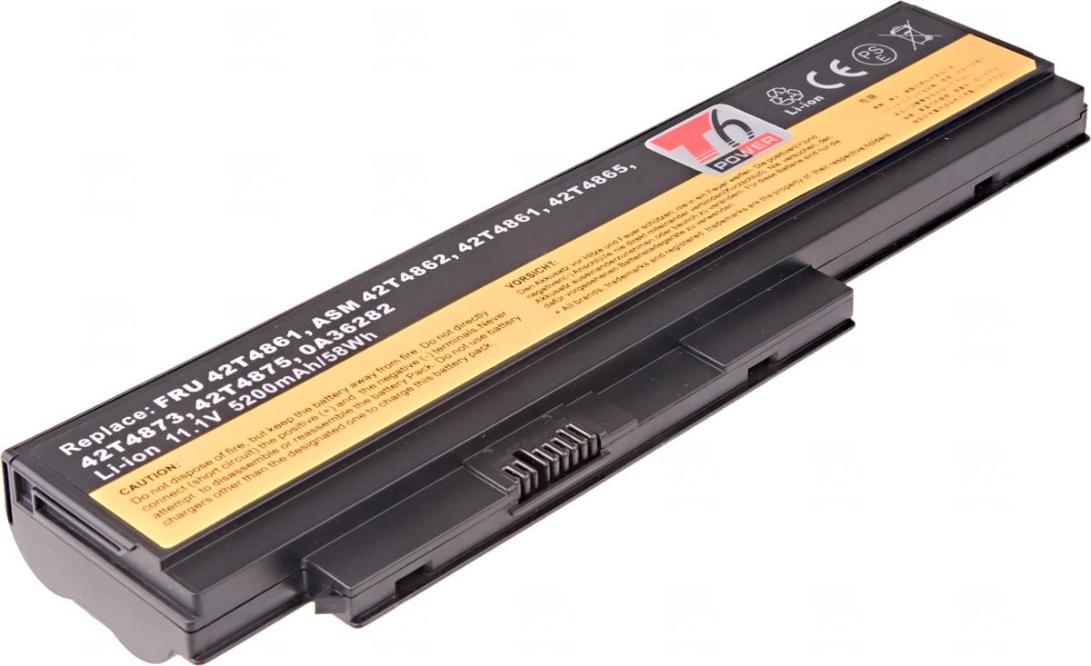 Baterie T6 power Lenovo ThinkPad X220, X220i, 6cell, 5200mAh