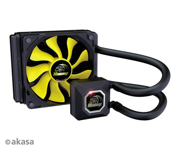 AKASA chladič CPU - vodní - Venom A10 AM4 podpora