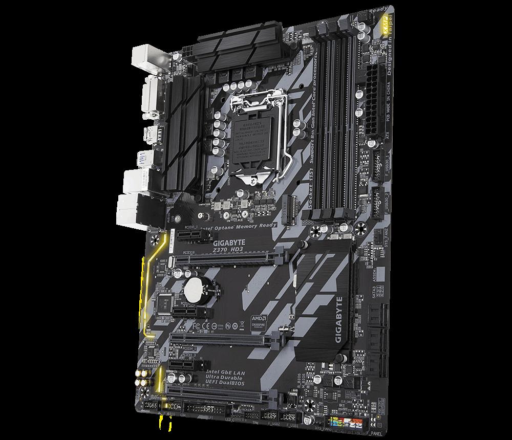 GIGABYTE MB Sc LGA1151 Z370 HD3, Intel Z370