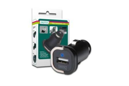 Ednet MINI USB nabíječka do auta s úchytem pro vysunutí ( vstup: 12V/24V , výstup 5V 1A )