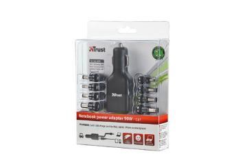 Trust 90W mikro adaptér pro Notebook, Ultrabook & iPad do auta Plug&Go