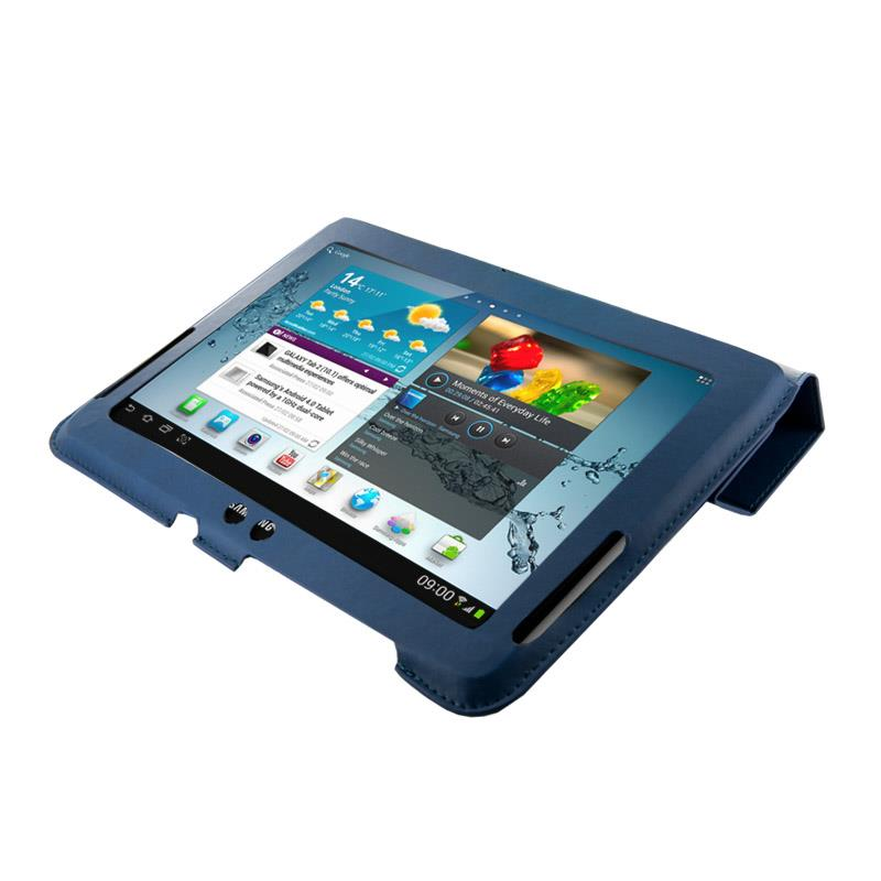 4World Pouzdro - stojan pro Galaxy Tab 2, 4-Fold Slim, 10'', modrý