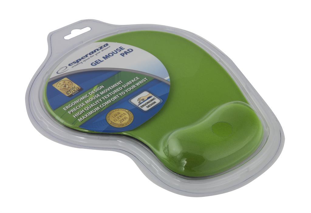 Esperanza EA137G podložka pod myš (230 x 190 x 20 mm), gelová, zelená, blistr