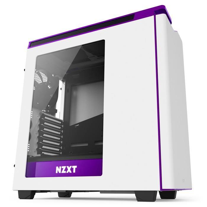 NZXT PC skříň H440 Bílo-fialová
