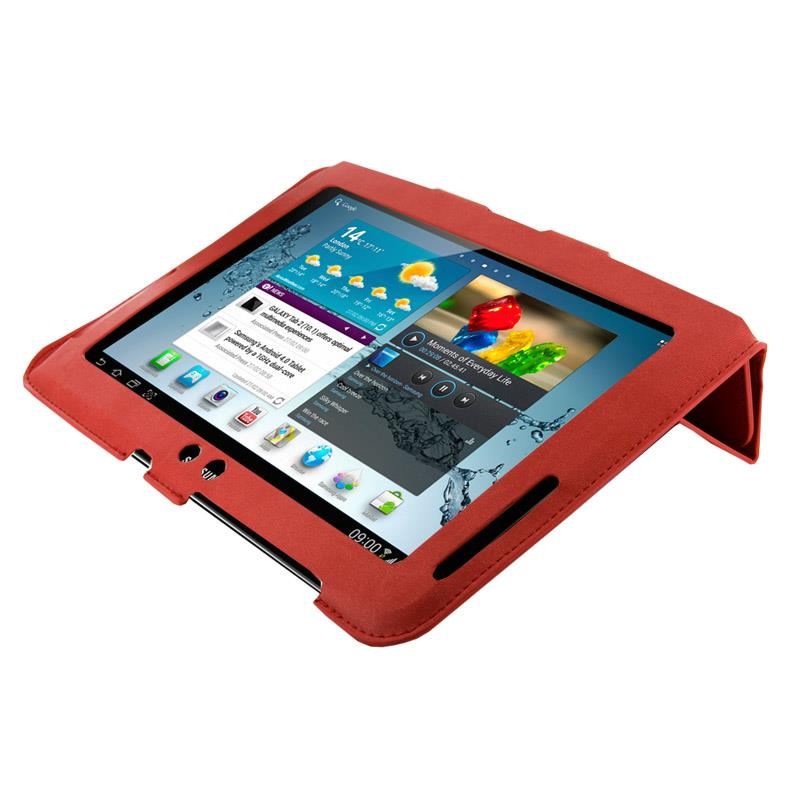 4World Pouzdro - stojan pro Galaxy Tab 2, 4-Fold Slim, 10'', červený