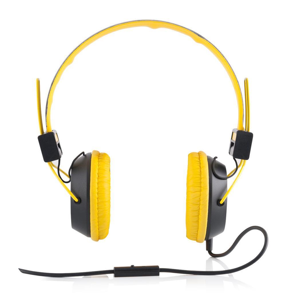 Modecom sluchátka MC-400 CIRCUIT YELLO mikrofon a ovládání hlasitosti na kabelu